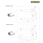 GEZE LH系列 水平把手 Mortise Lock Handle