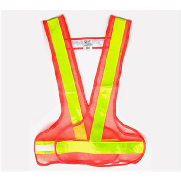 環保V型反光背心-網布螢光橙/反光條黃-晶順工業有限公司