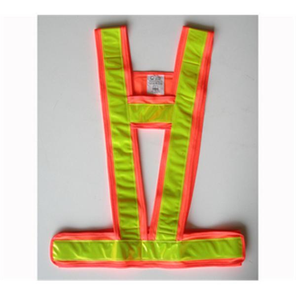 日式無網反光背心-反光條黃/包邊布螢光橙-晶順工業有限公司