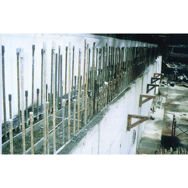 地下鐵隧道側牆鋼筋續接