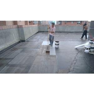 塗佈PU防漏膠固定玻纖網 - 總合防水工程有限公司
