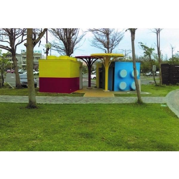 積木造型景觀親子廁所