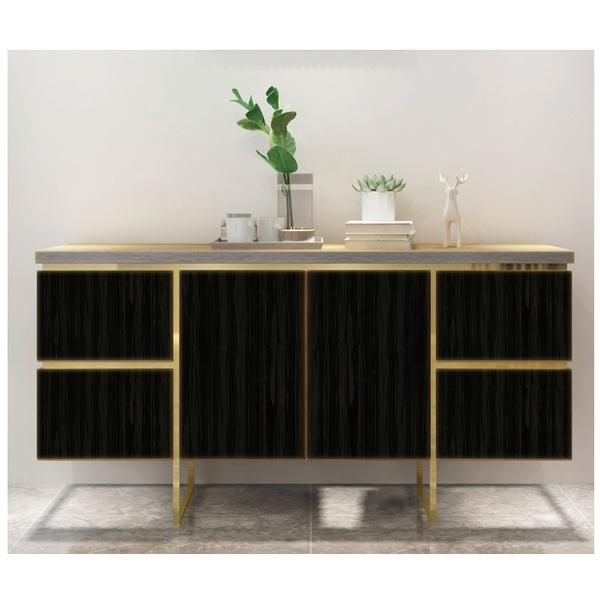 PET Decoratin Sheet -Wood Grain   W-01 Black