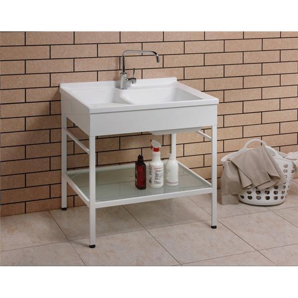 白鐵烤漆鋼架 C-80公分 洗衣台-益馨企業