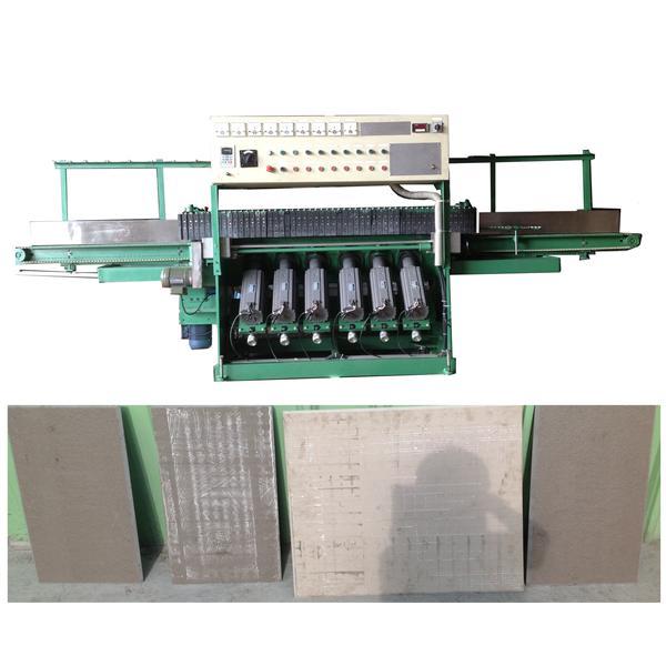 六頭鋁帶式磁磚磨角機-曹鐵機械有限公司