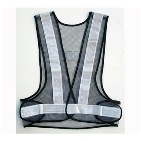 日式V型背心-網布深藍/反光條白-晶順工業有限公司