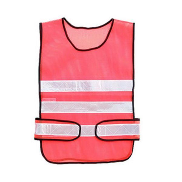 交警式背心-網布螢光橙/反光條白-晶順工業有限公司