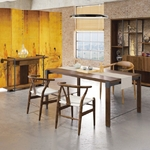 偉利美式胡桃6尺工業風會議桌