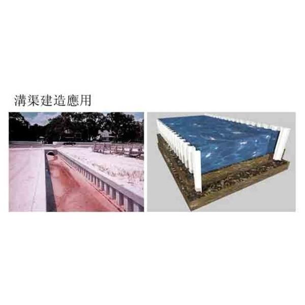 塑鋼板樁溝渠建造應用