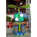 太陽能景觀燈飾垃圾桶-豆苗款