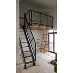 鐵梯+擴張網扶手.
