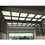 鋁格柵,H鋼安全玻璃採光罩8