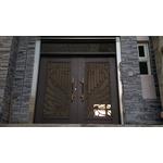 鑄鋁門花玻璃門