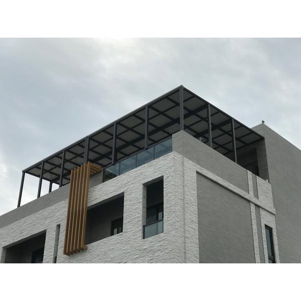 鋁格柵,H鋼安全玻璃採光罩5
